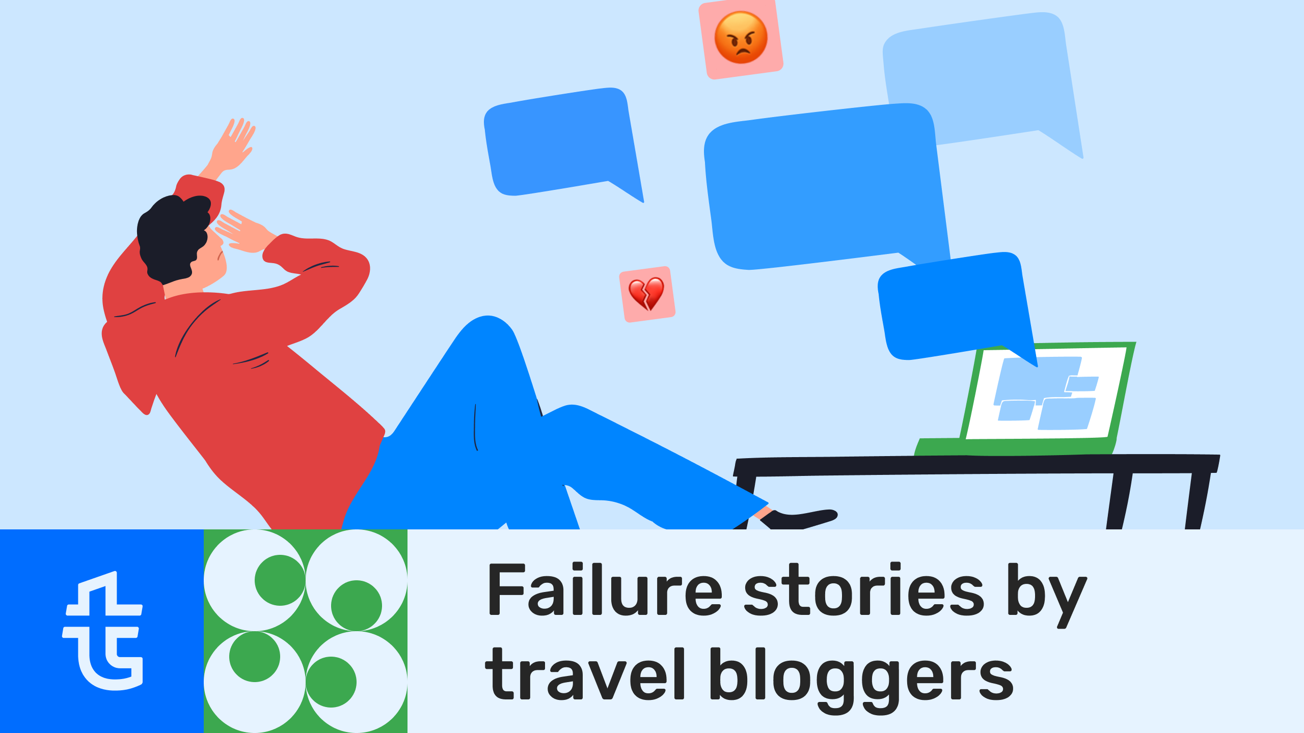 Failure stories by travel bloggers
